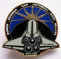 132- STS-132 Space Shuttle Atlantis Mission Pin